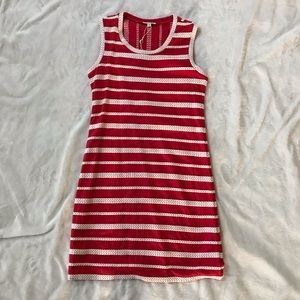 Max Studio red striped sleeveless dress-Size S